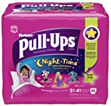 Huggies Pull-Ups Night Time Training Pants for Girls, Biggie Pack, 3T-4T, 46 ea, 1 pack
