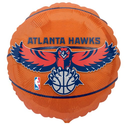 "Anagram International Atlanta Hawks Flat Party Balloons, 18"", Multicolor"