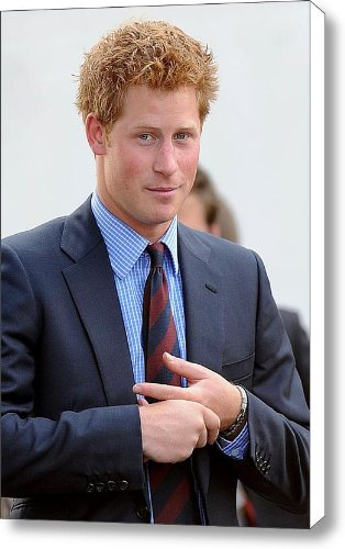 Prince Harry At A Public Appearance Canvas Print / Canvas Art - Artist Everett