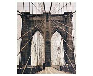 fotodruck auf holz rahmen bild auf leinwand brooklyn bridge new york k che. Black Bedroom Furniture Sets. Home Design Ideas