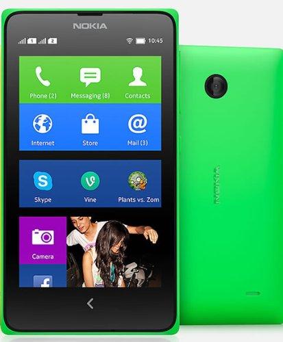 【海外版SIMフリー】Nokia ノキア X Dual SIM デュアルSIM 【dual デュアルSIM】 [並行輸入品] (グリーン)