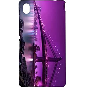 Casotec Manhattan Bridge Design Hard Back Case Cover for Sony Xperia M4 Aqua