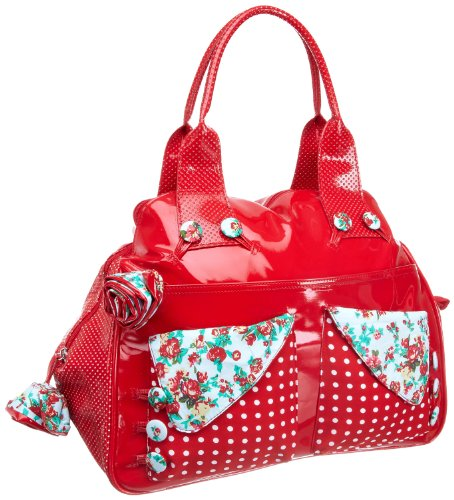 Irregular Choice Women's Flick Flack Kettle Clutch Bag Red Rose ICFLI09 Large