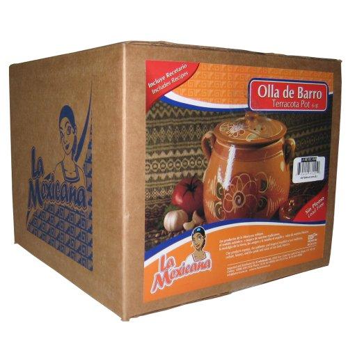La Mexicana Olla De Barro Pot, 6-Quart (Mexican Clay Cookware compare prices)