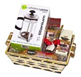 Coffee Lovers Mothers Day Godiva Coffee with Fresco French Press Holiday Gourmet Gift Basket