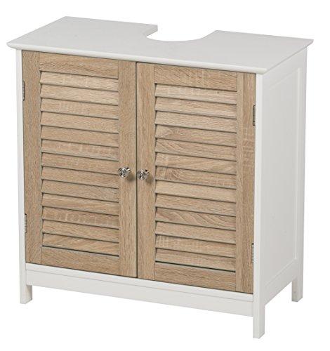 Waschbeckenunterschrank-mit-2-Tren-HolzMDF-Badschrank-Badregal-Waschtisch-Unterschrank