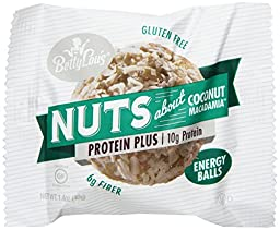 Betty Lou\'s Energy Balls, Coconut Macadamia, 1.4 Ounce (Pack of 12)