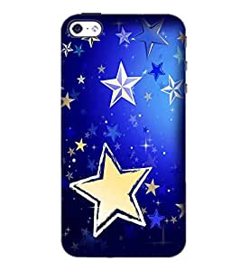 PrintDhaba Stars D-2285 Back Case Cover for APPLE IPHONE 4 (Multi-Coloured)