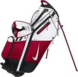 Nike BG0360-106 Air Hybrid Golf Carry Bag, White/Silver/Gym Red from Sportsman Supply Inc.