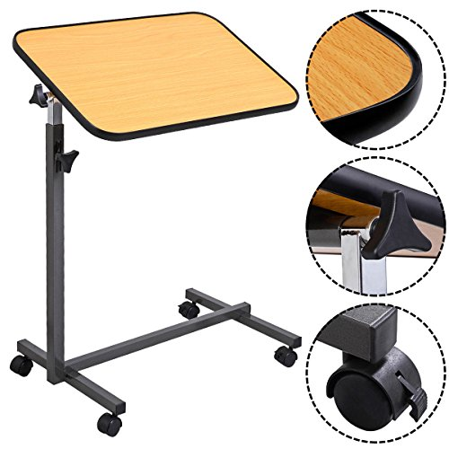 MedMobile Tilt Top Overbed Table with Laminated Tall Edged Table Top (Appliance Table compare prices)
