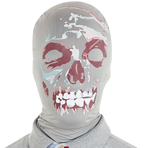 Morphsuits Morphmask Premium Zombie, Black/White/Red, One Size - 1