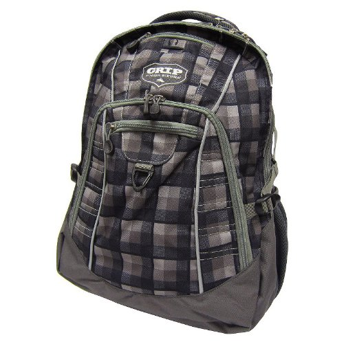 Grip By High Sierra Swag Plaid Backpack, Grey Buffalo front-861823
