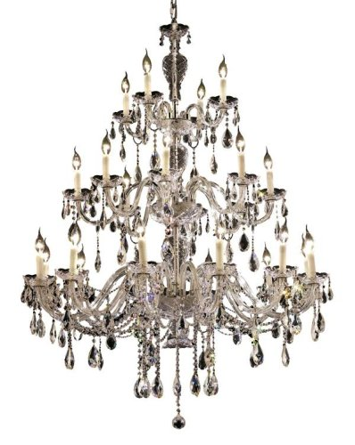 Elegant Lighting 7829G45C/Rc Alexandria 60-Inch High 24-Light Chandelier, Chrome Finish With Crystal (Clear) Royal Cut Rc Crystal front-898623