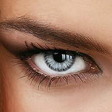 LUXDELUX Marble Grey - Lentes de contacto de colores, anuales, con y sin grosor, color gris (+ 5,00-12,00dioptrías)