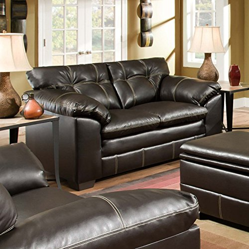 Simmons Upholstery 6769 Premier Bonded Leather Loveseat Chocolate