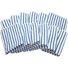 Brio CAMZ76188 Blue Microfiber Glass Cleaning & Polishing Cloths , (Set of 12)
