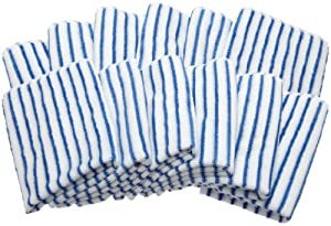 Brio CAMZ76188 Blue Microfiber Glass Cleaning & Polishing Cloths , (Set of 12)