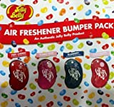 Jelly Belly Car/Home Air Fresheners x4 Tutti-Fruti,Blueberry,Bubble Gum & Cherry