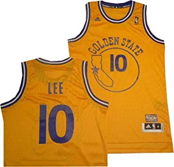 Golden State Warriors David Lee Hardwood Classics Adidas Swingman Jersey by adidas