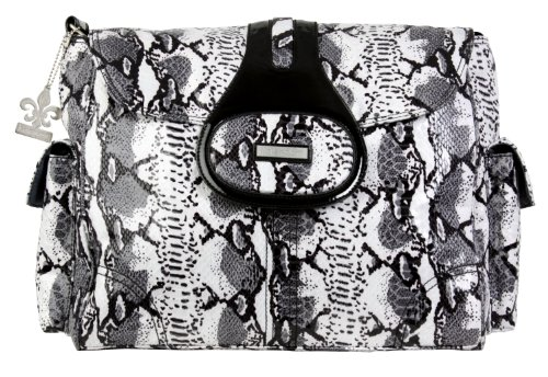 kalencom-elite-wickeltasche-schlangenoptik-python-schwarz-weiss