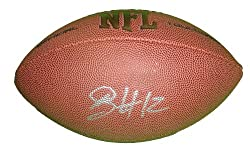 Cincinnati Bengals Mohamed Sanu Autographed NFL Wilson Touchdown Football, Rutgers Scarlet Knights, Proof Photo