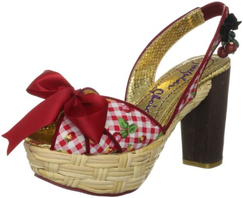 Irregular Choice Women's Peaches and Scream Red/White Open Toe 3958-6A 5 UK, 38 EU