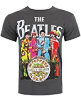 The Beatles Sgt Pepper Print T Shirt (Gris)