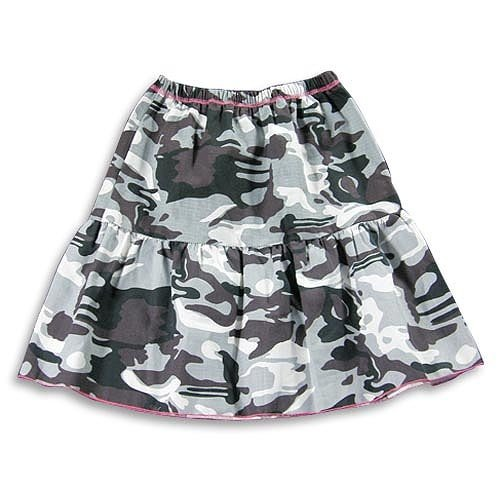 Grey Girls Camouflage Skirt
