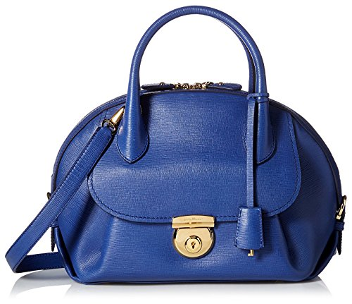 Salvatore-Ferragamo-Womens-Fiamma-Ornament-Lock-Satchel-New-Iris