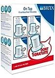 Brita Pack de 3 cartouches + 1 gratuite pour Filtre sur Robinet On Tap