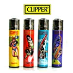 Lot de 4 briquets Clipper Beach Sport