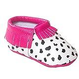 HAPPY CHERRY Suaves Zapatos Primeros Pasos Zapatitos sin Cordones Suela Antideslizante Mocasines para Beb�s Ni�os Ni�as 6-12 Meses Color Vaca Magenta