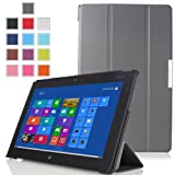 MoKo Ultra Slim Lightweight Smart-shell Stand Case For Lenovo Thinkpad 2 10.1 Inch Windows 8 Tablet GRAY (with...