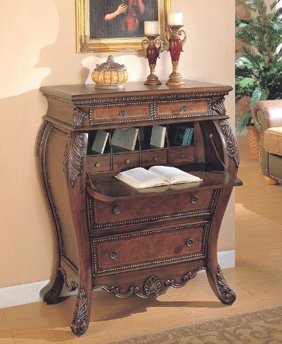 Cheap Drop leaf secretary bombe desk console cabinet (B000XBM5I6)