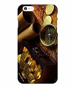 Case Cover Vintage Printed Yellow Hard Back Cover For Iphone 6 Plus