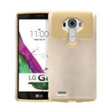 buy Lg G4 Case, Sophia Shop 2In1 Drop Protection Dual Layer Heavy Duty Hybrid Armor Rugged Hard Protective Case Cover For Lg G4(Gold+Gold)
