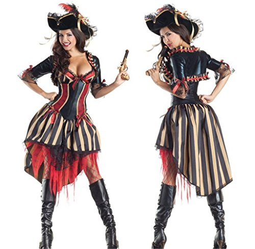 Totoer Women's Pirates of the Caribbean Deluxe Angelica Costume