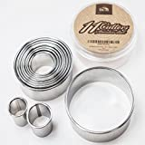 Comixpro Stainless Steel Professional Plain Round Pastry Dough Cutter Set 11 Pcs