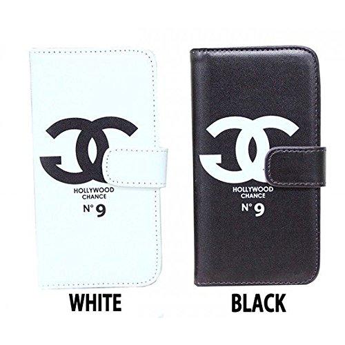 (ジャングルジャロピー)Jungle Jalopy パロディー 手帳型 スマホケース iphone6/5/5s/5c ケース iphoneケース ホワイト ブラック レオパード ヒョウ柄 ピンク ブラウン (iphone5/5s, ブラック)