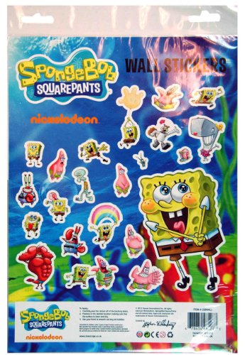 Spongebob Squarepants Wall Stickers - Kids Sticker Sheet front-12150