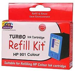 Turbo Refill Kit for HP 901 Colour Ink Cartridge