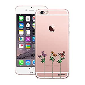 Customizable Hamee Original Designer Cover Thin Fit Crystal Clear Plastic Hard Back Case for Apple iPhone 6 Plus / 6s Plus (Three Flowers)
