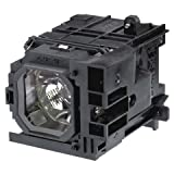 Replacement projector lamp NP06LP / 60002234 with housing fits NEC NP1150 / NP1250 / NP2150 projectors