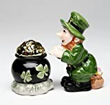 Appletree Design Leprechaun with Pot of Gold Salt and Pepper Set, 2-3/8-Inch, 3-3/4-Inch