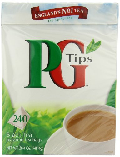 PG Tips Black Tea, Pyramid Tea Bags, 240Count Boxes (Pack of 2)
