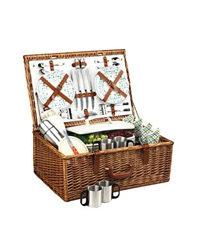 Picnic At Ascot Dorset Basket For 4 with Coffee Service, Gazebo