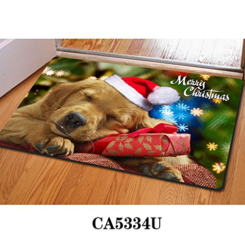 HUGSIDEA Cute Dogs Welcome Mats Funny Golden Retriever Entrance Floor Doormat