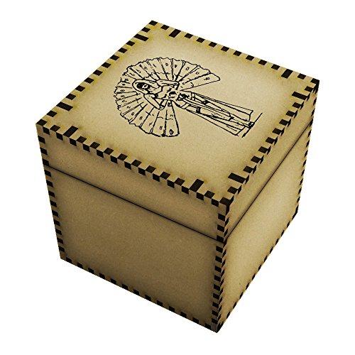 Large (81mm) 'Burlesque Dancer' Jewellery / Trinket Box (JB00009057) (Burlesque Jewellery)