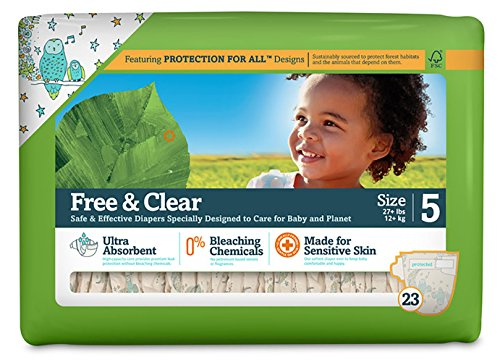 Seventh Generation Free & Clear Diapers Jumbo Pack - Size 5 - 23 ct - 1