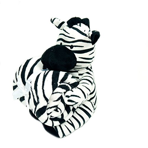 Baby Blanket & Plush Stuffed Animal Toy- Zebra - 1